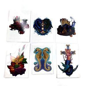 Temporary Tattoos Color Waterproof Lot 6